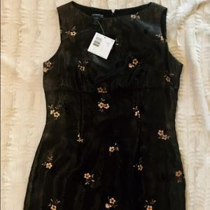 NWT SILK Liz Claiborne dress with beaded detail